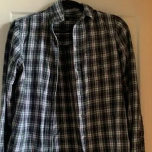 Madewell Green Plaid Button-Up - Size Small